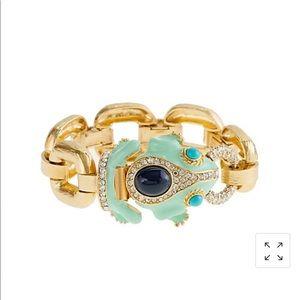 Jcrew Enameled frog bracelet